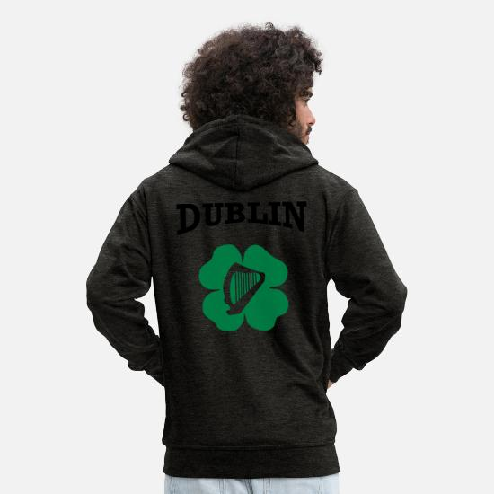 Dublin Hoodies & Sweatshirts - Dublin - Men's Premium Zip Hoodie charcoal grey