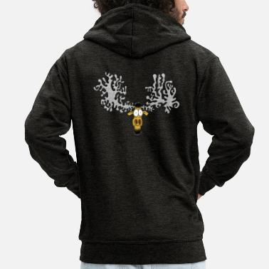 Cartoon Character Enillo deer cartoon character - Men's Premium Zip Hoodie