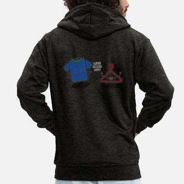 Hang Out HANG OUT - Men's Premium Zip Hoodie