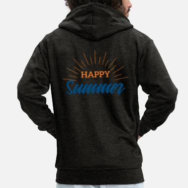 Summer Summer Happy Summer Festival Music Gift - Men's Premium Zip Hoodie