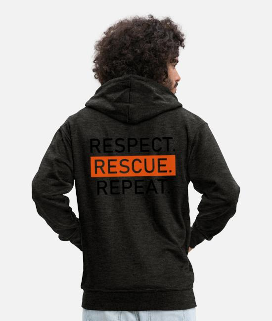 Puddle Hoodies & Sweatshirts - animal welfare - Men's Premium Zip Hoodie charcoal grey