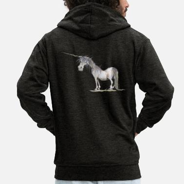 The Last Unicorn - Men's Premium Zip Hoodie