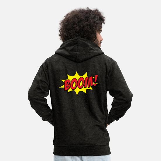 Comic Hoodies & Sweatshirts - Comic - Boom! - Men's Premium Zip Hoodie charcoal grey