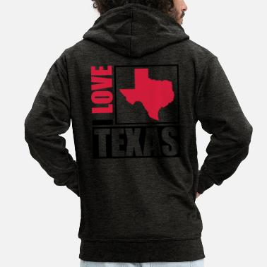 I Love i_love_texas_py2 - Men's Premium Zip Hoodie