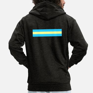 National Color Palau national colors - Men's Premium Zip Hoodie