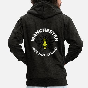 Manchester Manchester - Bee Not Afraid - Men's Premium Hooded Jacket