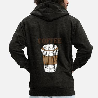 Coffee Drinkers Certified coffee drinker coffee - Men's Premium Zip Hoodie