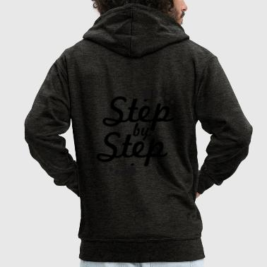 step by step 2 - Men's Premium Hooded Jacket