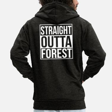 Chain WOODEN SAW CHAINSAW GIFT FOREST FÖRSTER PROFESSION - Men's Premium Zip Hoodie
