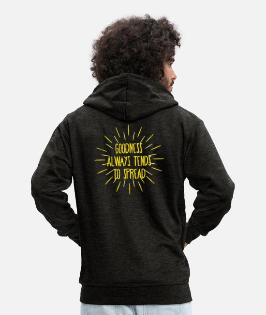 Think Hoodies & Sweatshirts - World Youth Day - Church - Faith - Religion - God - Men's Premium Zip Hoodie charcoal grey