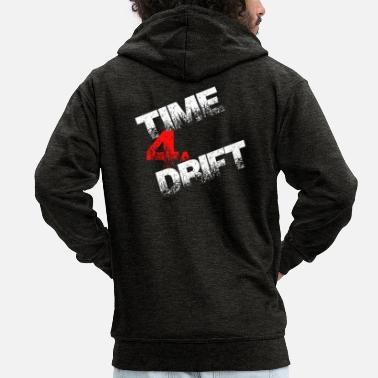 Drifting Time 4a drift drift gift - Men's Premium Hooded Jacket