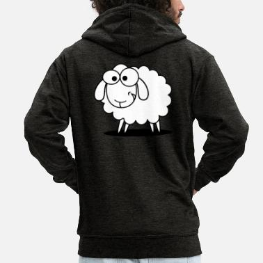 Sheep sheep, sheep, - Men's Premium Hooded Jacket