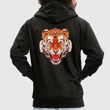 Tiger tiger low - Men's Premium Hooded Jacket