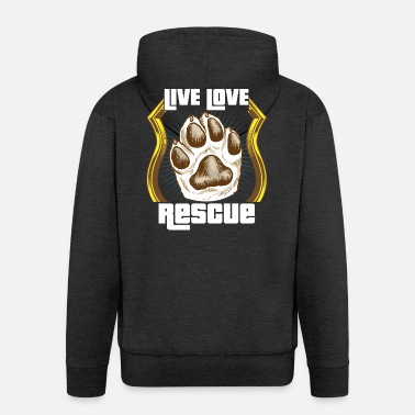 Rescue Dog Dog animal rescue dogs rescue shelter gift - Men's Premium Hooded Jacket