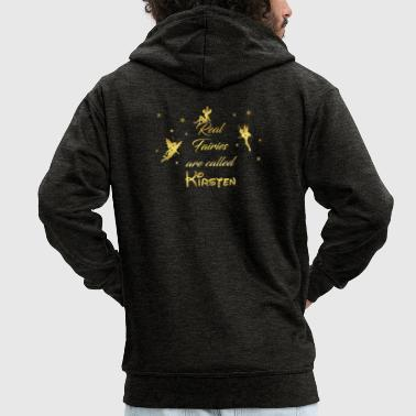fairy fairies fairy first name Kirsten - Men's Premium Hooded Jacket