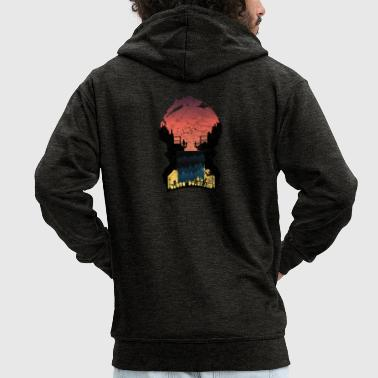 Sunset silhouettes life gift city - Men's Premium Hooded Jacket