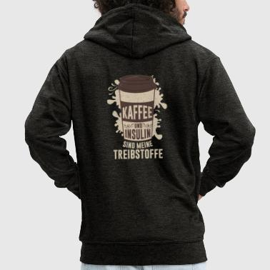 Coffee and insulin are my fuels - Men's Premium Hooded Jacket