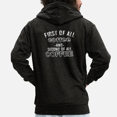 f26ae145b6d3a Classe De Seconde Surtout le café et le second café - Veste à capuche  Premium Homme