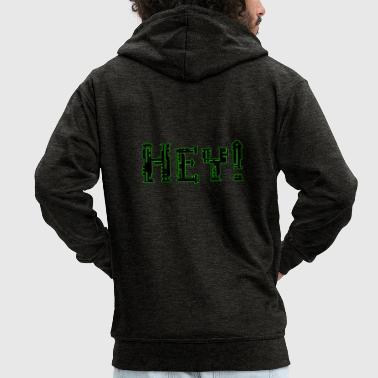 Cyborg Hey! - Men's Premium Hooded Jacket