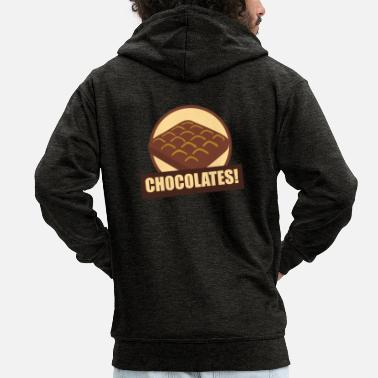 Pizza Chocolates! Chocolate Fun Shirt Gift Idea - Men's Premium Hooded Jacket