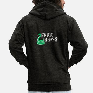 Tongue Snake - Men's Premium Zip Hoodie