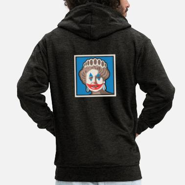 Sarcasm Joker Queen England Parody Movie Gift - Men's Premium Zip Hoodie