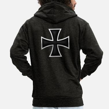 Iron Cross Iron Cross - Men's Premium Hooded Jacket