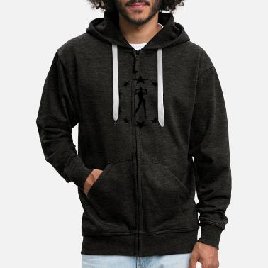 Farewell Underwear stars wreath special - Men's Premium Zip Hoodie