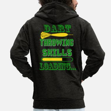 Drinking Games Darts, darts direct hits, darts arrows - Men's Premium Zip Hoodie