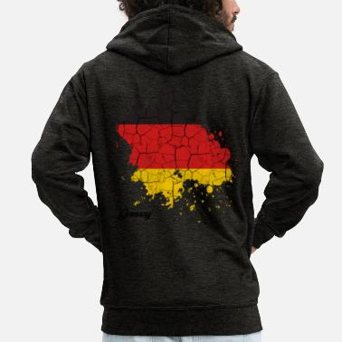 Federal Republic Of Germany Federal Republic of Germany countries outline gift - Men's Premium Zip Hoodie