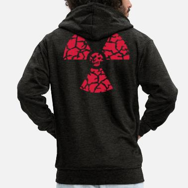 Fanellidas against nuclear power - Men's Premium Zip Hoodie