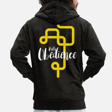 Rally Obedience Rally Obedience - Men's Premium Zip Hoodie