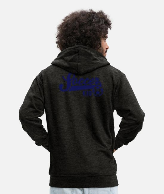 Fußball Hoodies & Sweatshirts - Soccer KID - Men's Premium Zip Hoodie charcoal grey