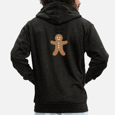 Muffin Gingy created by the muffin man - Men's Premium Zip Hoodie