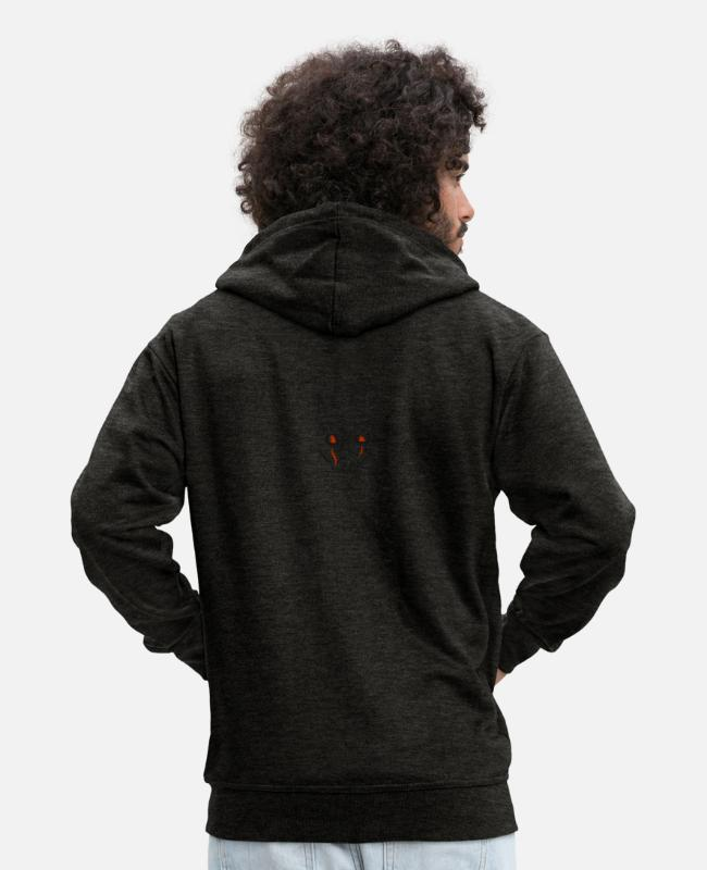 Undead Hoodies & Sweatshirts - Halloween - Men's Premium Zip Hoodie charcoal grey