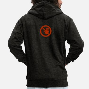 Caution sign - Men's Premium Zip Hoodie