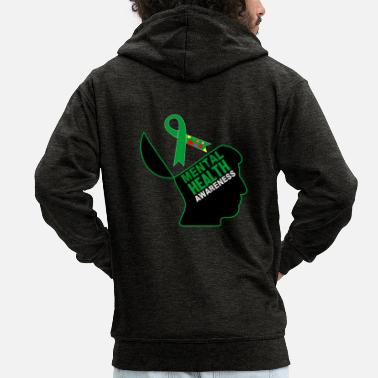 Awareness Be aware that mental health is important - Men's Premium Zip Hoodie