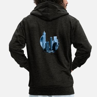Big Apple The Big Apple - Men's Premium Zip Hoodie