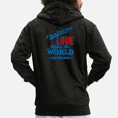 Capital capitalism - Men's Premium Zip Hoodie