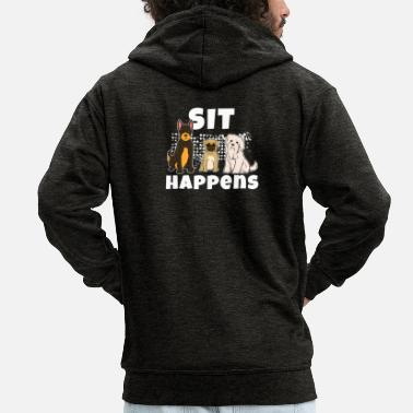 Training Dog training dog sport dog - Men's Premium Zip Hoodie