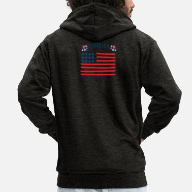 We Are Boston America - Men's Premium Zip Hoodie