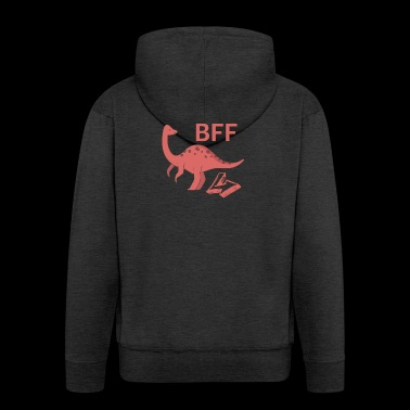 Brachiosaurus BFF best friends forever right - Men's Premium Hooded Jacket