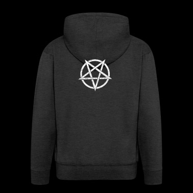 Pentagram, devil, satan, grunge - Men's Premium Hooded Jacket