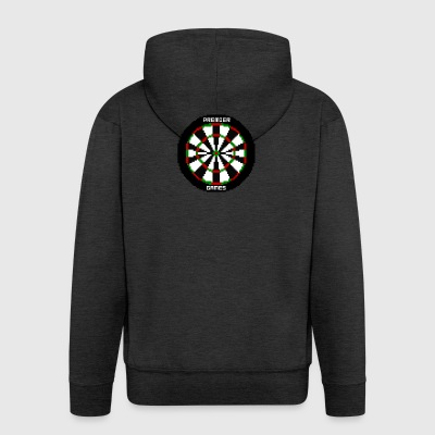 premier games pixelated dartboard - Men's Premium Hooded Jacket