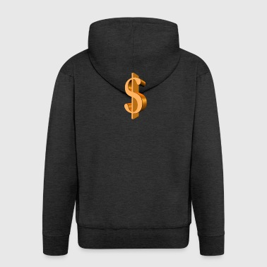 Dollar sign - Men's Premium Hooded Jacket