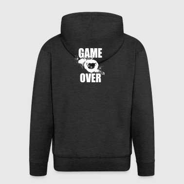 Gamer - Game Over - Felpa con zip Premium da uomo