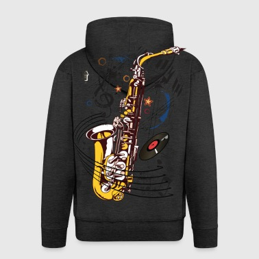 Saxophone, Sax Appeal - Men's Premium Hooded Jacket
