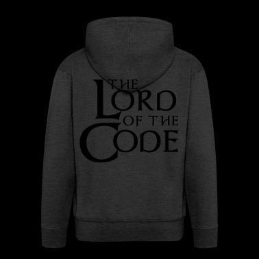 The Lord of the Code - Rozpinana bluza męska z kapturem Premium