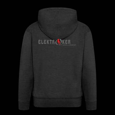 Electrician profession journeyman apprentice - Men's Premium Hooded Jacket