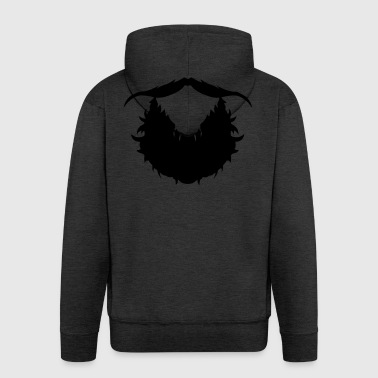 beard mustache hipster 1810 - Men's Premium Hooded Jacket